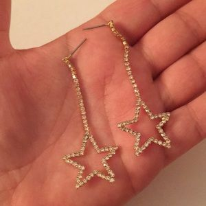 Pave Star 💫 drop earrings! Luxe